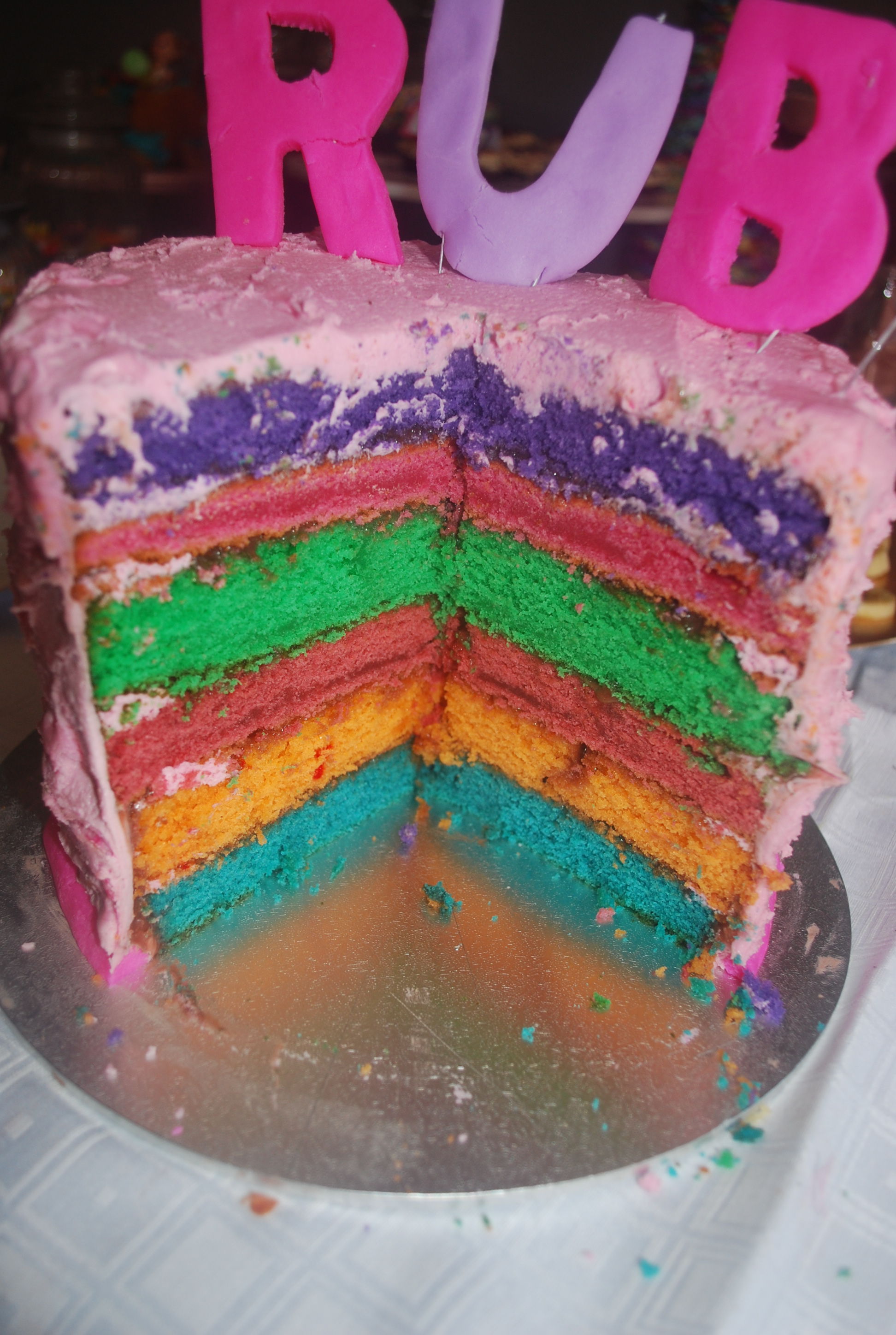 How To Do A Rainbow Cake