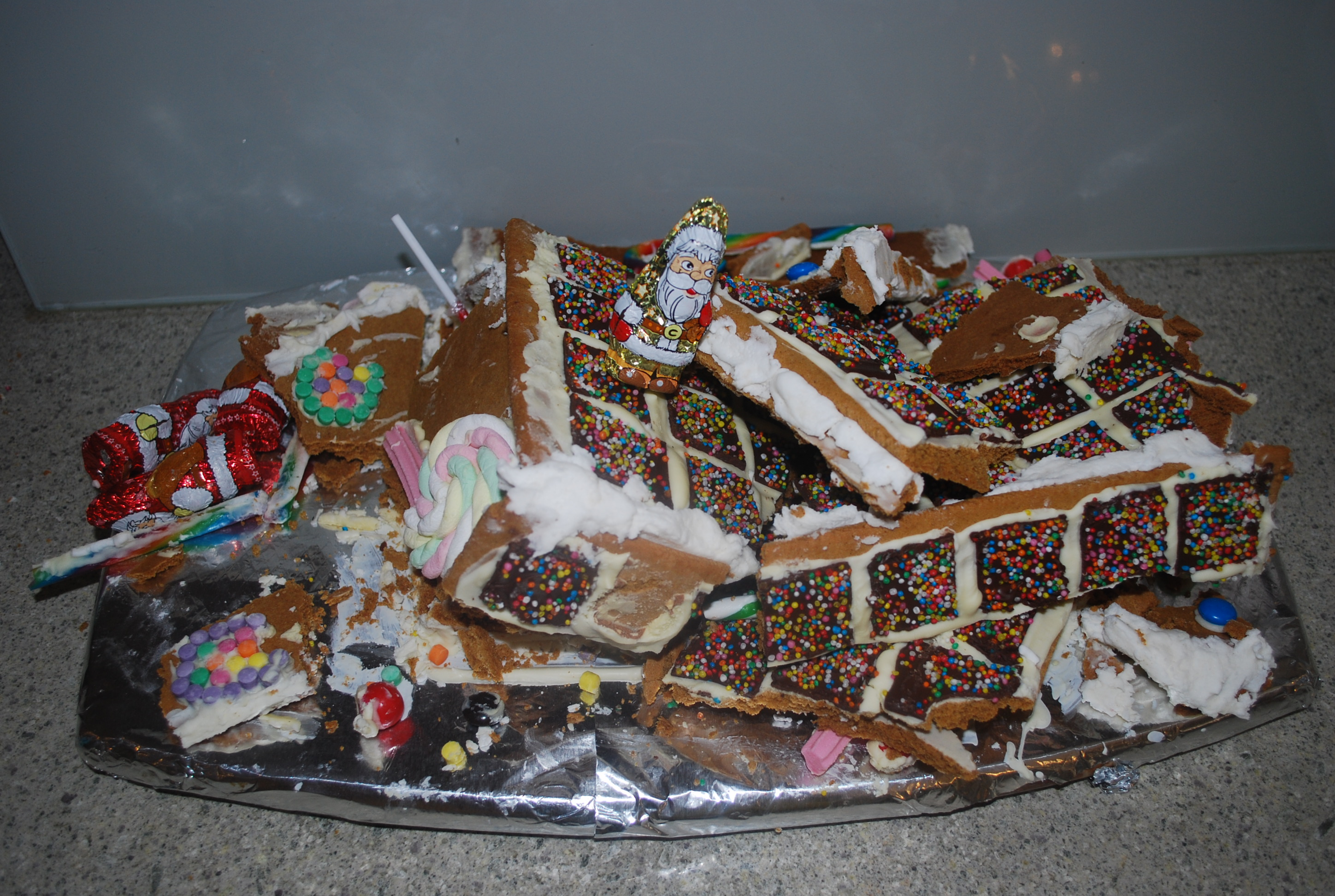 Premade Gingerbread Houses Beneath The Wraps Gingerbread Traditions
